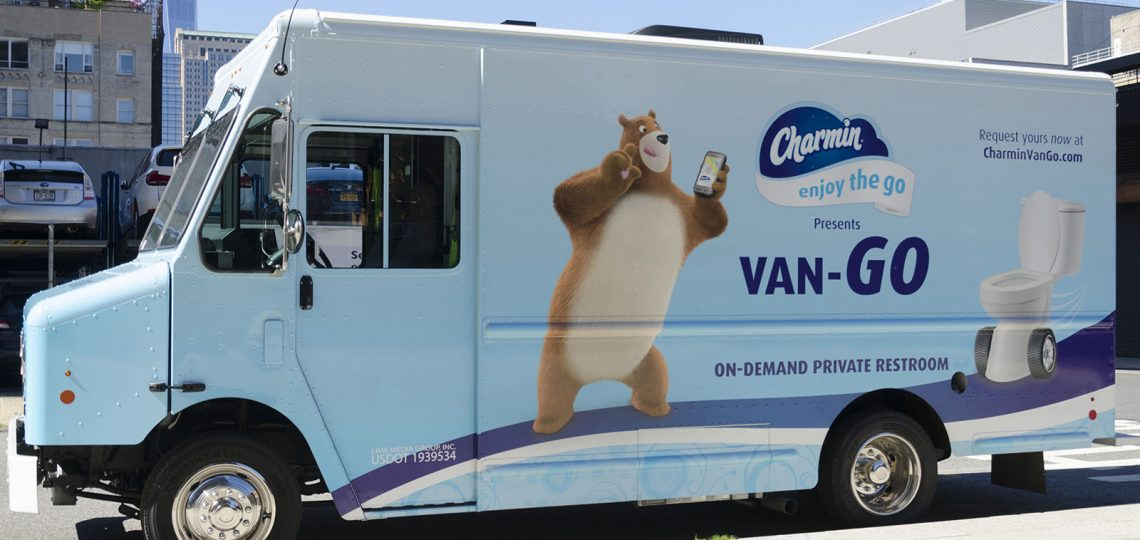 Procter & Gamble-owned toilet paper brand Charmin offered New Yorkers their own private and personal toilet facilities last week, with the launch of Charmin Van-GO, the first-ever on-demand mobile bathroom service.