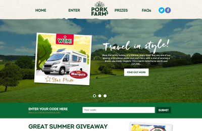 "Pork pie brand Pork Farms has launched a three month on-pack promotion called ""The Great Summer Giveaway"" which will include the chance to win a £45,000 motor-home or one of more than 100 Haven holiday vouchers worth £500."