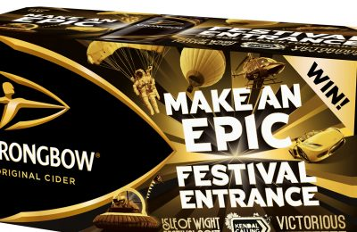 Heineken cider brand Strongbow is offering the chance to win a 'Make an Epic Festival Entrance' prize worth up to £10,000, including entrance to the selected festival for six people plus tents for accomodation.