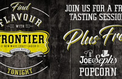 Frontier, the new craft lager from brewer Fuller's, has teamed up with gourmet popcorn brand Joe & Seph's for an in-pub food pairing campaign encouraging trial of Frontier through the offering of a free packet of Joe & Seph's popcorn.