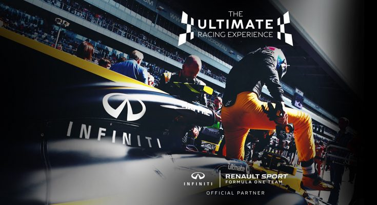 Japanese automaker Nissan is launching a campaign for INFINITI, its luxury vehicle division, which offers five lucky winners the opportunity to test drive a real Renault Sport Formula One Team car this October.