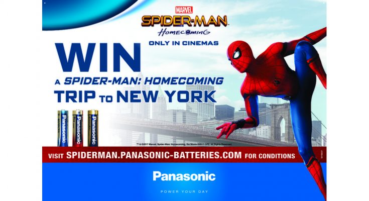 Panasonic has launched an on-pack promotion in the UK in conjunction with the release of the Sony film, Spider-Man: Homecoming.