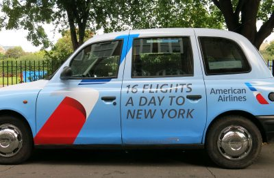 A new American Airlines campaign to drive awareness of its product and network offering from London has become the first of its kind to utilise geofencing technology with a moving object – in this case, a London black taxicab.