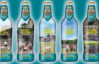 Greene King, the official beer sponsor of English cricket and grass-roots rugby, is hosting a major sports-themed nationwide on-pack promotion, created and implemented by Farnham-based marketing agency Ten Feet Tall.