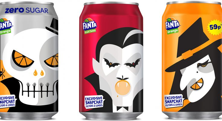 Coca-Cola European Partners (CCEP) has launched its biggest-ever Halloween campaign for Fanta, including exclusively designed packaging, smaller 150ml can multipacks, an advertising and experiential marketing campaign and on-pack codes to unlock special Halloween Snapchat filters.
