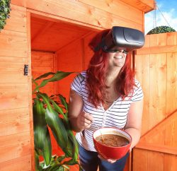 GLORIOUS! Soups has launched what it is calling the world's first 'wellness shed', complete with a unique virtual reality (VR) mindfulness experience that involves stirring a VR pot of soup as slowly as possible. The VR is accompanied by binaural music which is scientifically proven to improve mindfulness.