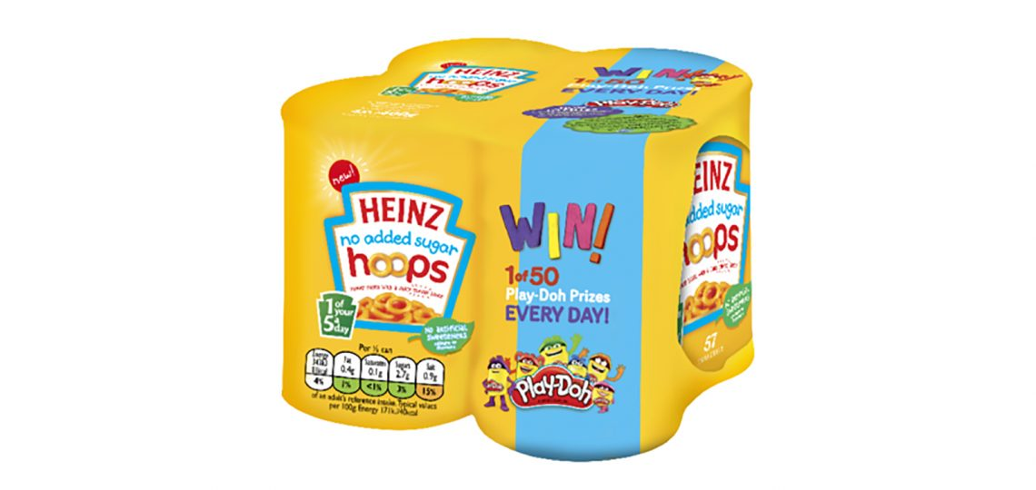 """Heinz Pasta has partnered with Play-Doh for an on-pack promotion offering the chance to win one of 50 Play-Doh """"Playful Pies"""" Playsets every day over an eight-week period."""
