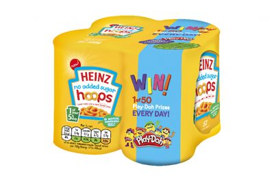 "Heinz Pasta has partnered with Play-Doh for an on-pack promotion offering the chance to win one of 50 Play-Doh ""Playful Pies"" Playsets every day over an eight-week period."