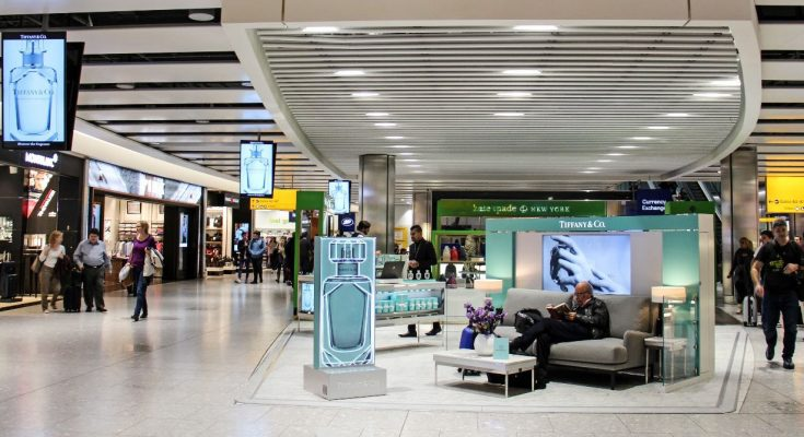 Tiffany is marking the launch of its new signature fragrance to the UK market with experiential activity in one of the busiest areas of Heathrow's Terminal 5.