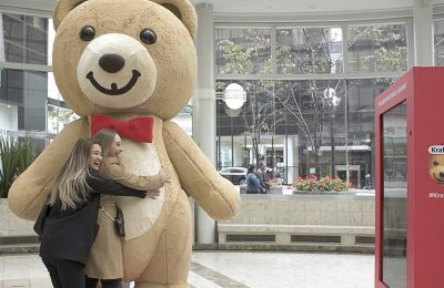 "Kraft Peanut Butter is running a promotion which allows Canadians separated from their loved ones this holiday season to send them hugs via internet-connected teddy bears. Canadians who use ""#KraftBearHugs"" on social to share who they would like to give a bear hug to will be entered into a competition to win a pair of Wi-Fi enabled bears."