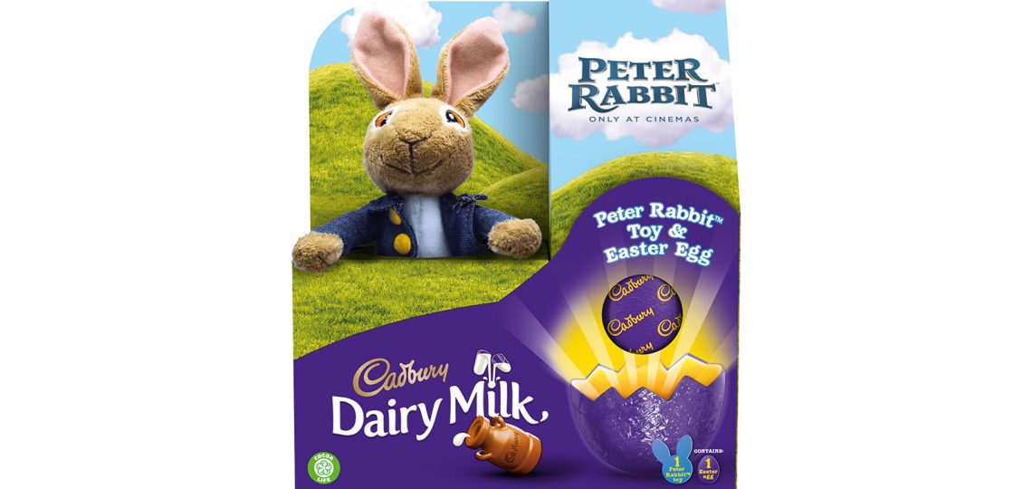 Cadbury is partnering the new live action/CGI movie, Peter Rabbit – launching in the UK on March 16th – for an on-pack promotion which will offer five families the chance to win their own break to the home of Peter Rabbit and Beatrix Potter, the Lake District, plus other Peter Rabbit-themed prizes including tote bags, bunny ears and carrot pens.