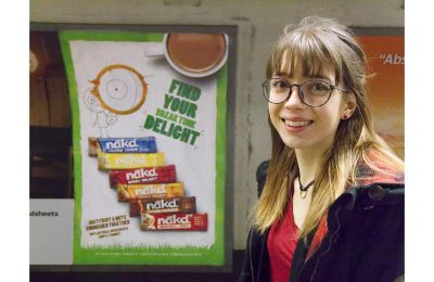 Wholefoods snack bar brand Nākd is showcasing the winning doodles from two fans who entered its 'Add a little Delight' social media competition on OOH media