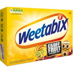 Breakfast cereal brand Weetabix is running a free fruit on-pack promotion to help people start 2018 in a healthy way.