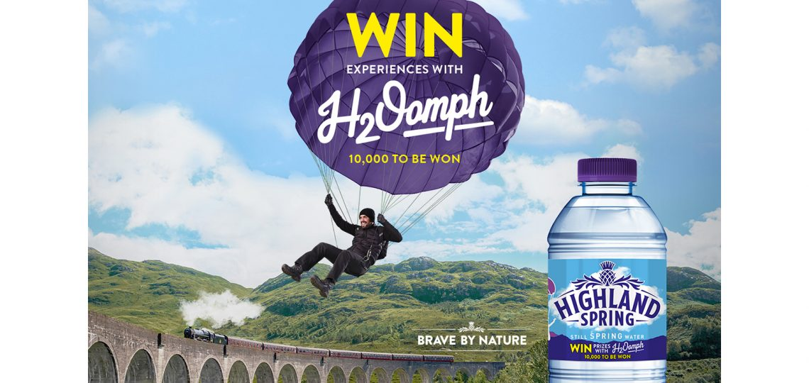 Water brand Highland Spring is running a new on-pack campaign that celebrates everyday bravery, offering 10,000 experience prizes that promise 'Life, with added H2Oomph'.