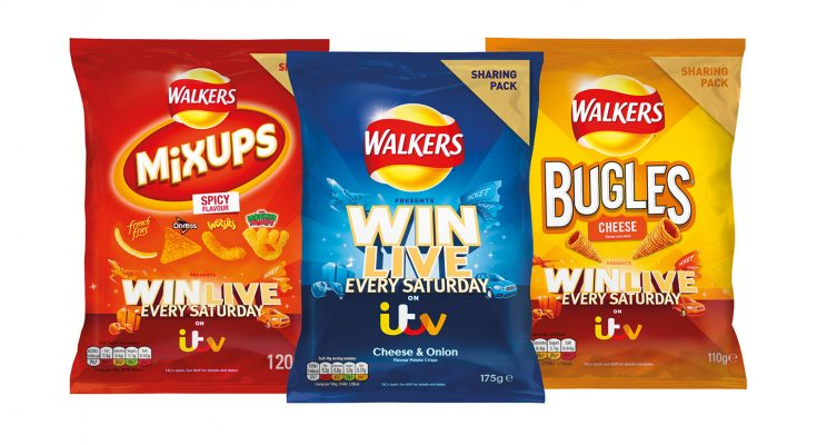 Walkers, the UK's biggest selling savoury snacking brand, has teamed up with ITV to capitalise on the Saturday 'big night in' sharing occasion by offering consumers the chance to win prizes live every Saturday night.