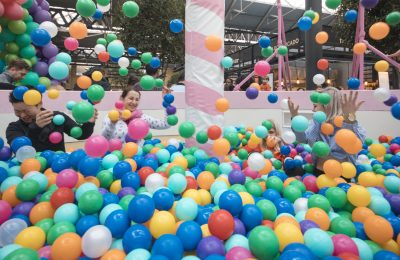 To celebrate its 40th birthday, and its new Birthday Cake flavour, ice-cream brand Ben & Jerry's ran a giant birthday cake themed ball pit at London's Old Spitalfields Market.