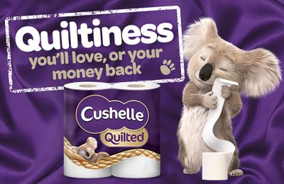 "Essity, the Swedish health and hygiene group, is backing its new Cushelle Quilted toilet paper variant, launched in January, with an integrated below-the-line campaign aimed at helping drive awareness and trial of the new variant – which is claimed to be the brand's ""most cushiony-soft toilet tissue ever""."