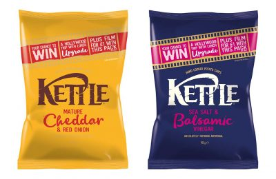 Kettle Chips has launched an 'Upgrade your lunch' on pack promotion on its full single serve and multi-pack ranges offering consumers the chance to win the lunch upgrade of a lifetime – plus every purchaser can also rent a digital film in full HD from Chili Cinema for just £1.