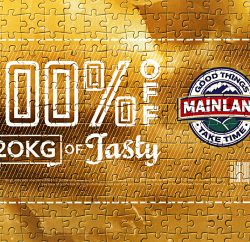 New Zealand cheese brand Mainland has just run an innovative consumer promotion featuring a 2000 piece jigsaw puzzle voucher for free cheese.