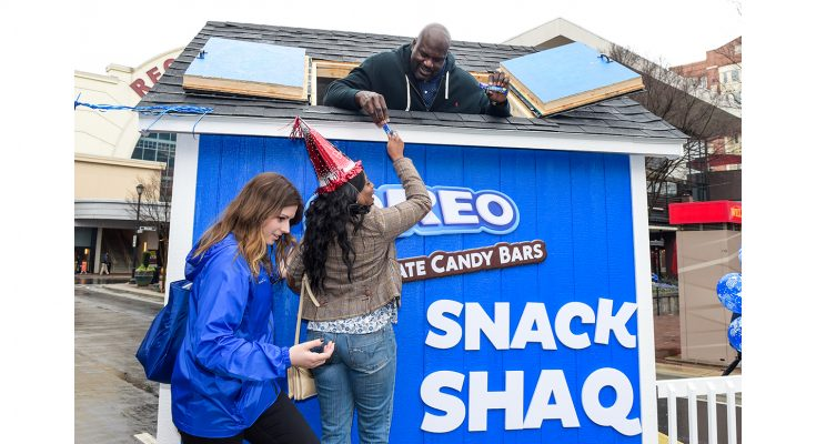 Confectionery company Mondelez has enlisted the help of basketball superstar Shaquille O'Neal to help it celebrate the 'birthday' of its OREO brand on March 6th by giving away one million OREO Chocolate Candy Bars in a US-wide promotion.