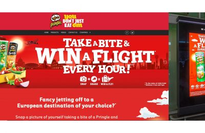 "Snack brand Pringles has launched a nationwide Digital Out-Of-Home (DOOH) campaign to encourage participation in its Easter on-pack promotion, ""Take a Bite and Win a Flight""."