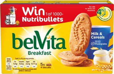 The UK's biggest selling healthy biscuit brand, belVita, is launching a new on-pack promotion offering consumers the chance to win one of over 1,000 NutriBullet juice makers so they can create juice and smoothie recipes to complement their belVita breakfast biscuit.