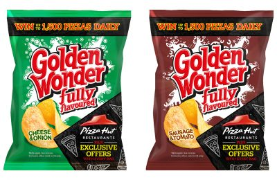 Leading savoury snack brand Golden Wonder is rewarding customers through a major on-pack promotion in partnership with Pizza Hut Restaurants.