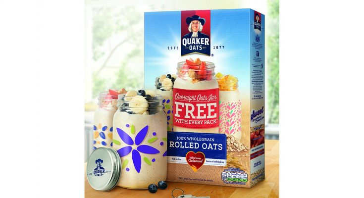 Quaker Oats is rerunning its successful Overnight Oats on-pack promotion from last summer, but with a twist – consumers will now be able to choose the colour and design of the jar they get.