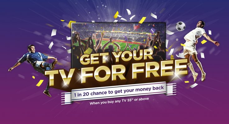 Currys PC World is launching a summer football-themed campaign, 'Get your TV for Free', which offers customers a one in 20 chance of getting the money they spend on buying a TV back, up to a maximum value of £24,999.