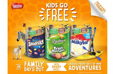 Nestlé has partnered with hundreds of venues across the UK and Ireland to encourage families to spend more time together and do something fun, as part of a new 'Kids Go Free' on-pack promotion.