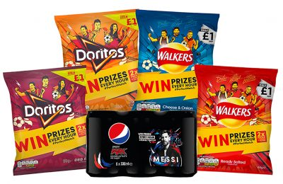 PepsiCo brands are coming together this summer to encourage shoppers to host their own big night in with its range of snacks and beverages and get behind their favourite football team. The 'Power of One' campaign features an on-pack promotion offering prizes across selected formats of Walkers Tear 'n' Share, Walkers Stax, Doritos and Pepsi Max.