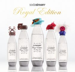 SodaStream has celebrated the upcoming Royal Wedding by creating a set of limited-edition bottles featuring five exclusive hat designs, inspired by headgear previously worn by female members of the UK Royal Family, and auctioning them off for charity.