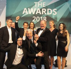 Lucozade and tbk Group collected the trophies for Brand Owner of the Year, Agency of the Year and the coveted Grand Prix Award at The IPM Awards 2018 last night, the biggest networking event of the promotional marketing industry year.