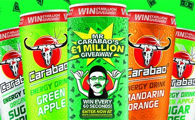 Energy drink Carabao has launched a new on-pack offer giving UK and Irish consumers the chance to win a share of a total £1m cash prize fund, the brand's biggest-ever giveaway. The top prize has been set at £50,000.