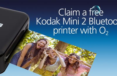 O2 is offering customers the opportunity to cover their fridges with snapshots, with a 'gift with purchase' offer giving away free Kodak Mini 2 Bluetooth printers (worth £89.99) when they buy an eligible handset either instore, online or over the phone.