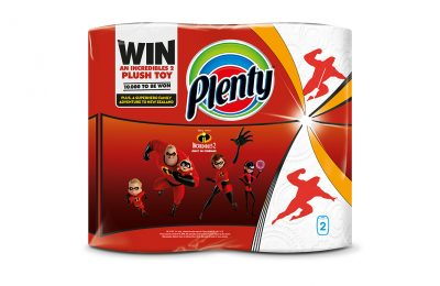 Household towel brand Plenty is collaborating with Disney ahead of the hotly-anticipated launch of the Disney∙Pixar film Incredibles 2, which will be released in UK cinemas on July 13th.