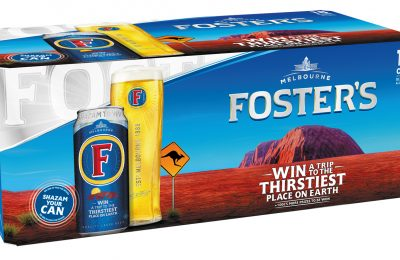 "Foster's is giving consumers the chance to win a unique trip to ""the thirstiest place on earth"" – Ayers Rock, Australia – in an on-pack summer promotion in partnership with music and discovery app, Shazam."
