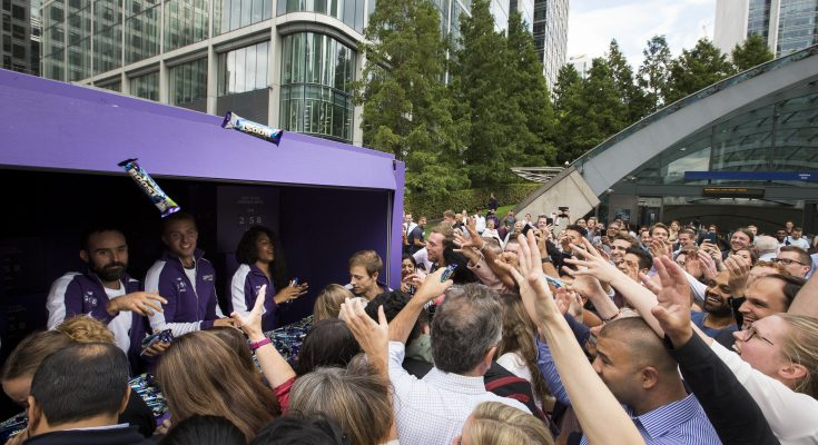 Cadbury Boost has unveiled the first ever human charging points in Canary Wharf, London to 'supercharge' Brits and give them the much needed boost to beat the afternoon lull, and take on the rest of their day.  It's Boost time!