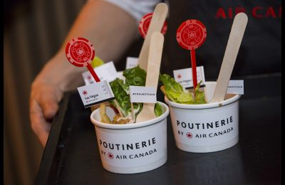 Air Canada is running a pop-up restaurant serving gourmet versions of Canada's national dish, Poutine, inspired by a selection of the airline's destinations, for the second year running.
