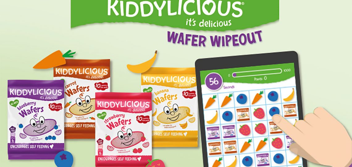 Baby and toddler food brand Kiddylicious has created a new version of its hugely popular online game, Wafer Wipeout, with new graphics, ingredients and prizes.