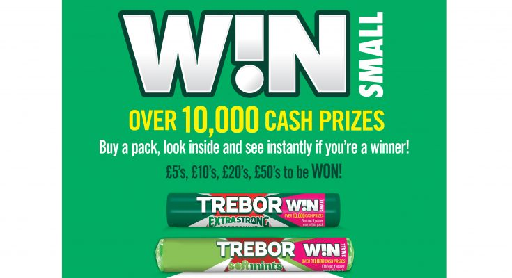 Trebor, the UK's number one mint brand, is offering thousands of consumers the chance to win between £5 and £50 in its latest on-pack prize draw, Trebor Win Small.