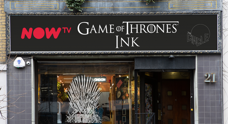 c86ffb37c GOT Ink? NOW TV opens ultimate Game of Thrones tattoo studio to mark the  start of the final season