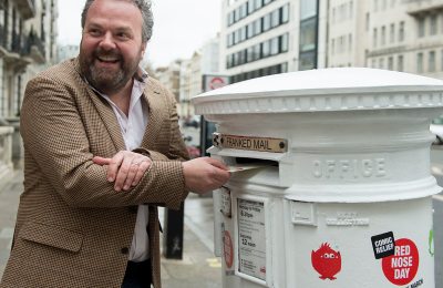 Royal mail comic relief postbox